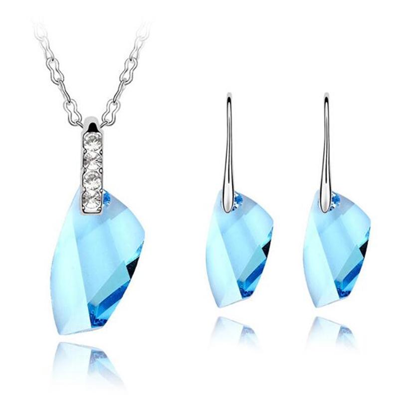 Naked swarovski drill sterling silver drop earrings