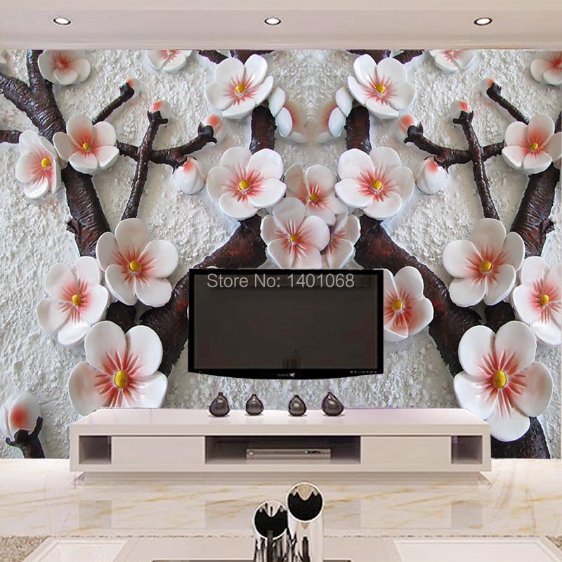 обои 3д для стен фото цветы