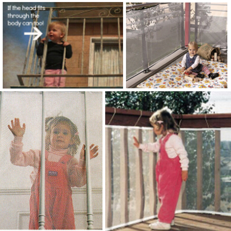 Перила лестницы балкон защитной сеткой безопасности детская .
