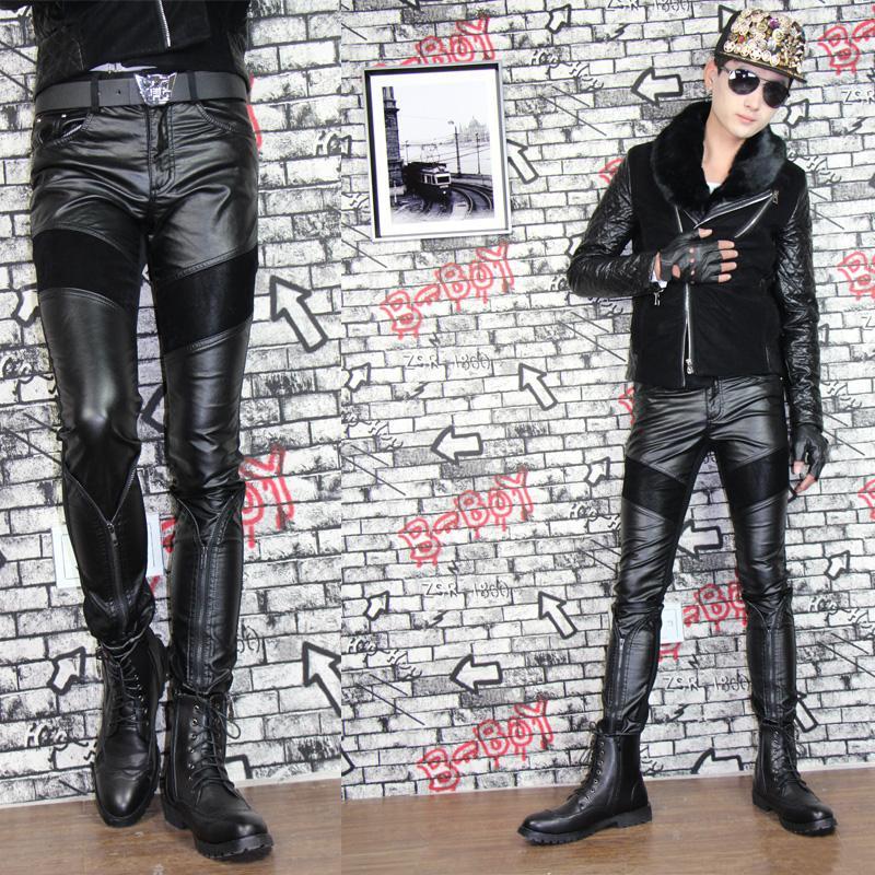 Кожаные мужские брюки с доставкой