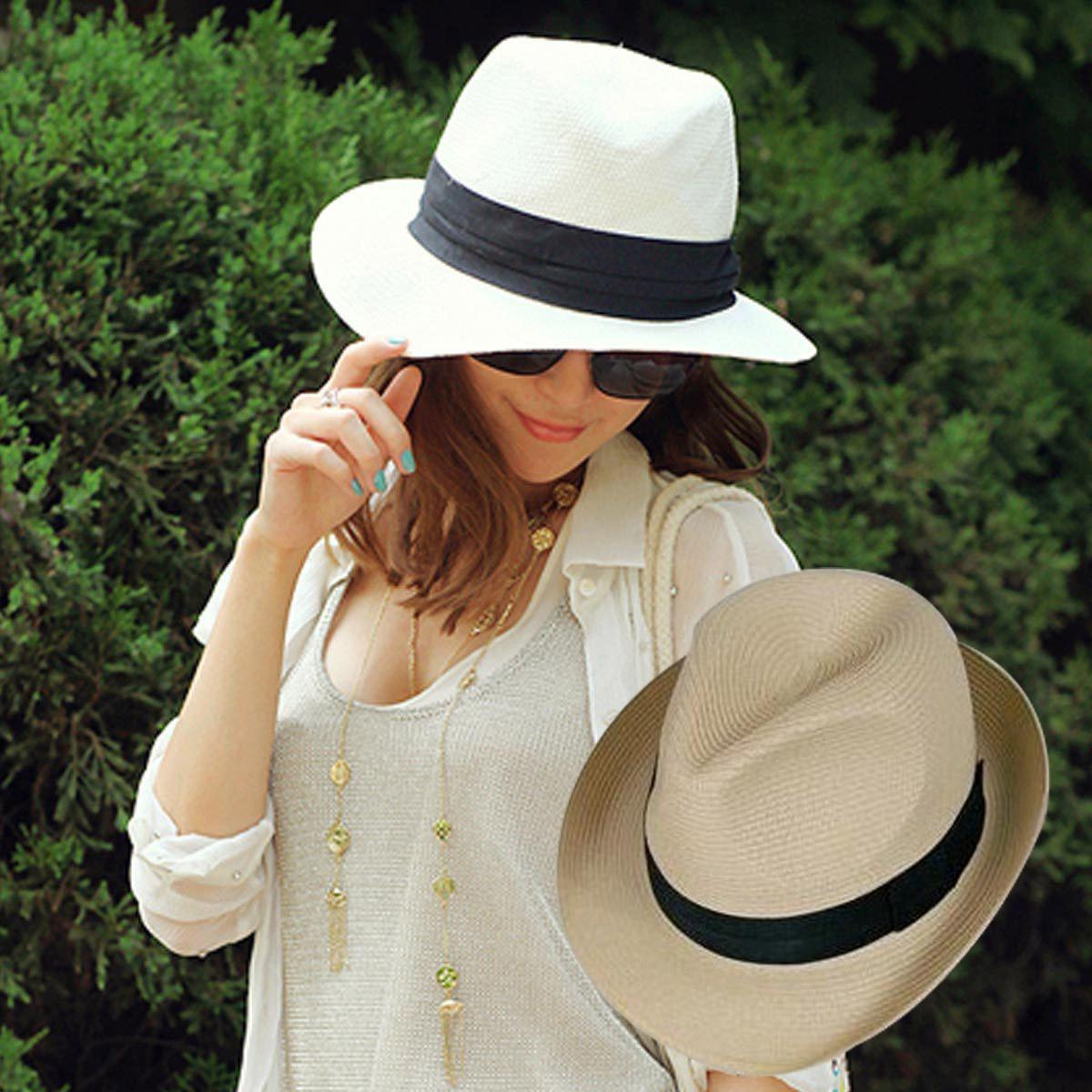 С чем носить плетеную шляпу