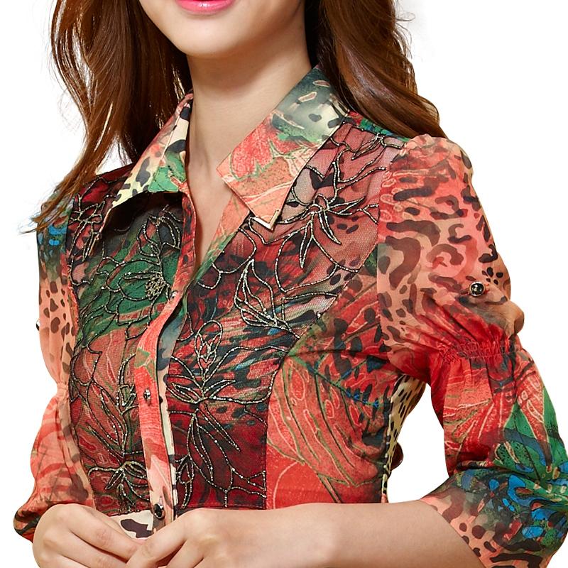 Блузка с кружевом 2015