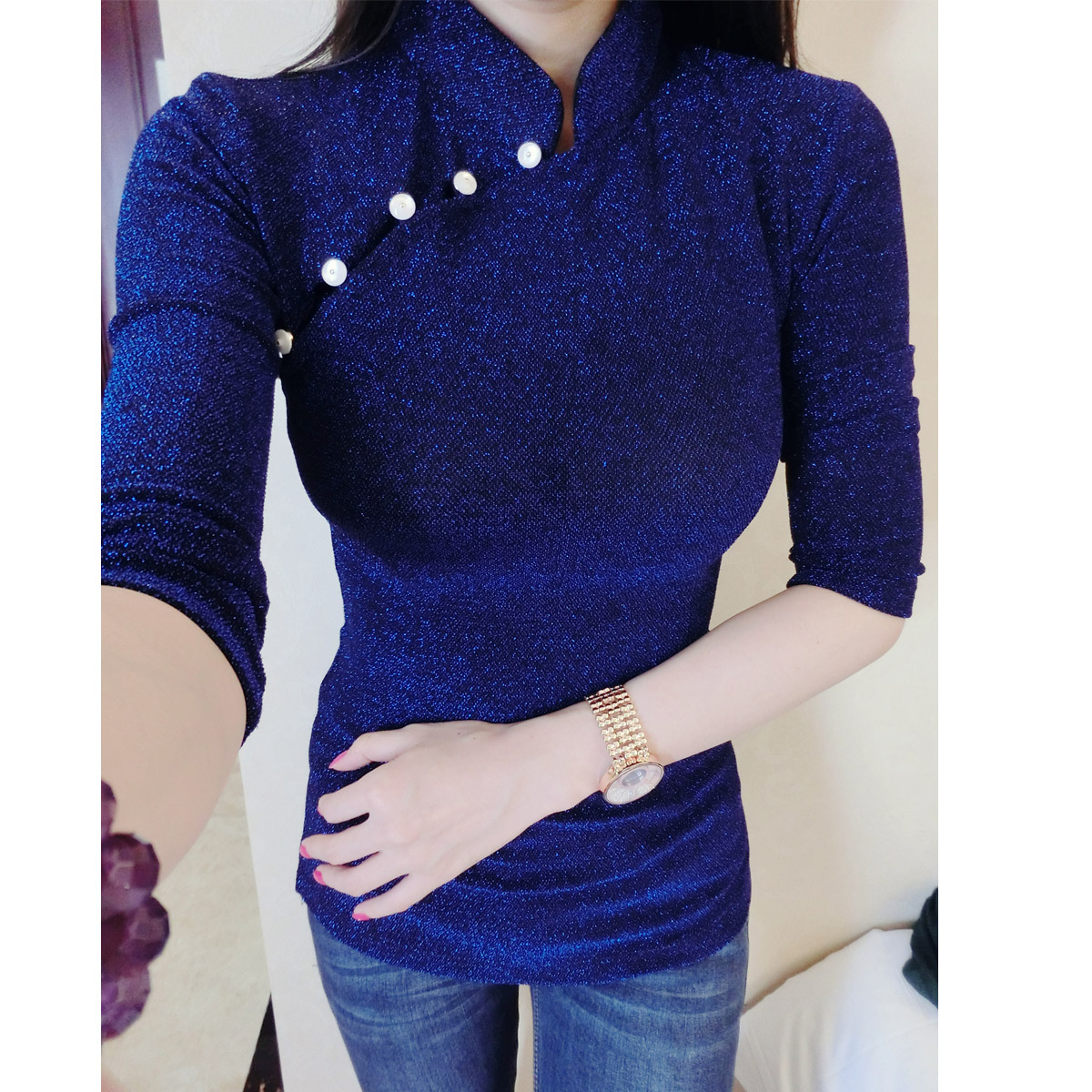 Блузка синего цвета в Уфе