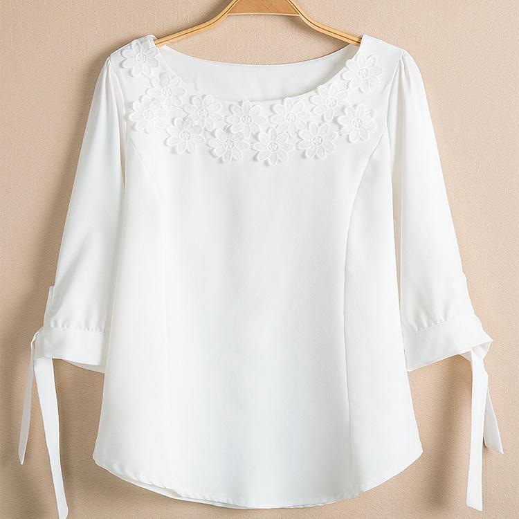 Белая Шифоновая Блузка С Доставкой