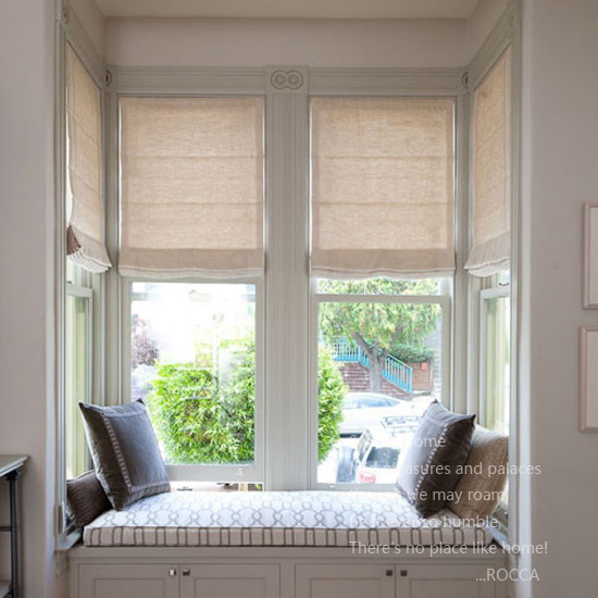 Shutters window treatments, bay window seats with storage wi.