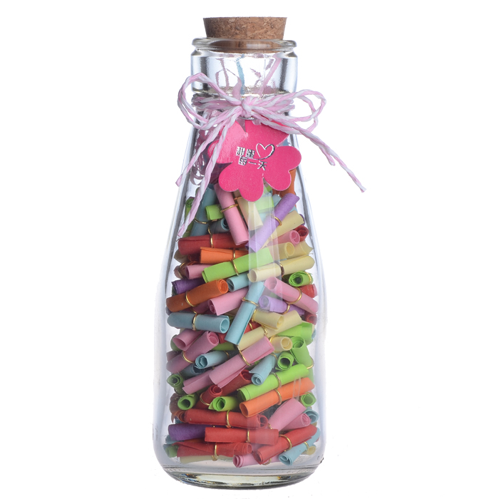 Бутылка с пожеланиями на день рождения своими руками