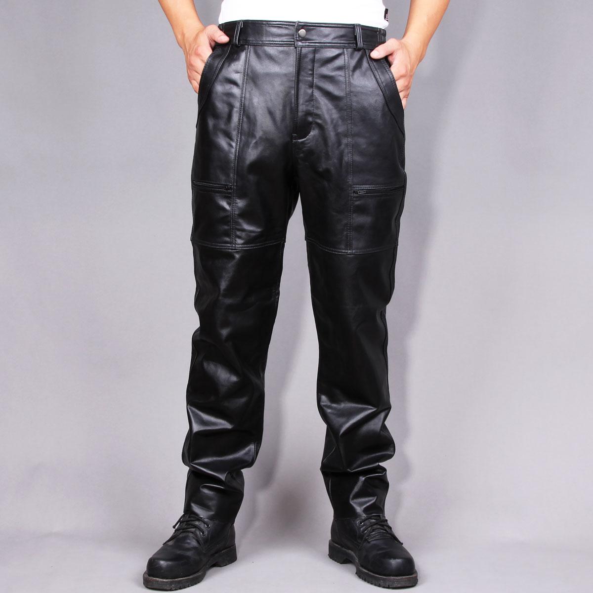 Мужские кожаные брюки купить с доставкой