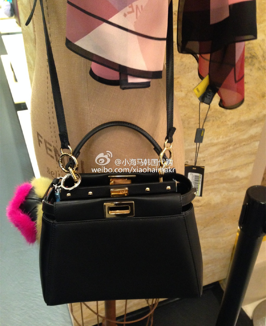 Fendi peekaboo mini bag replica sale