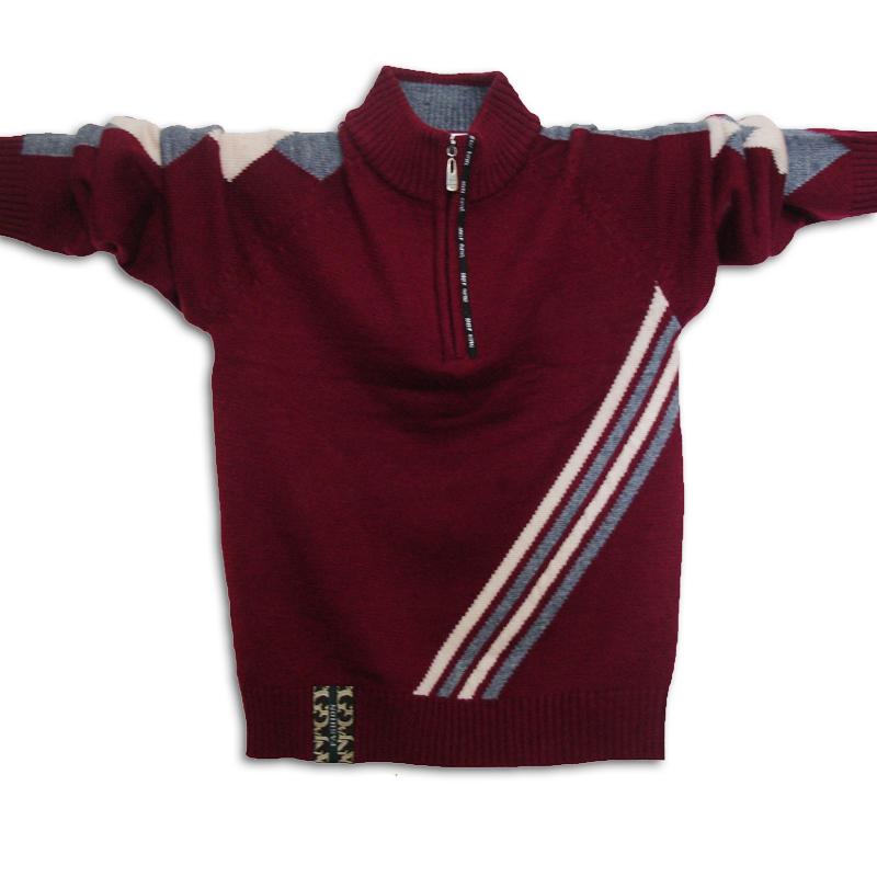 Тёмно-бордовый свитер