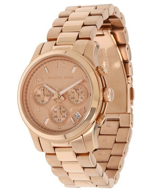 Michael Kors Womens Runway Rose GoldTone Watch MK5128